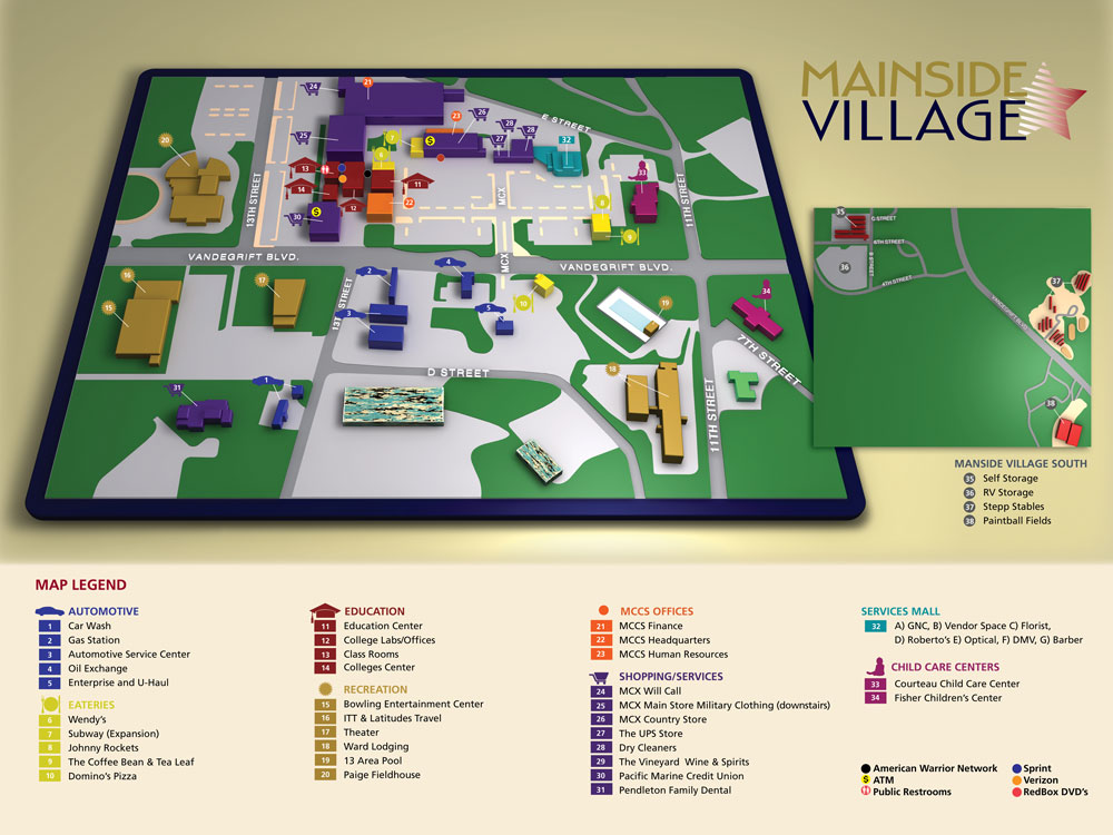 3D map and directory - Mainside Village Project