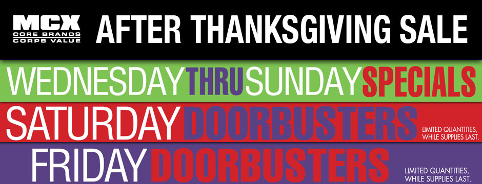 After Thanksgiving Sale Web Banner