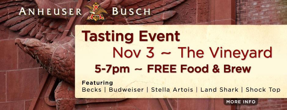 Anheuser Busch Tasting Event Web Banner