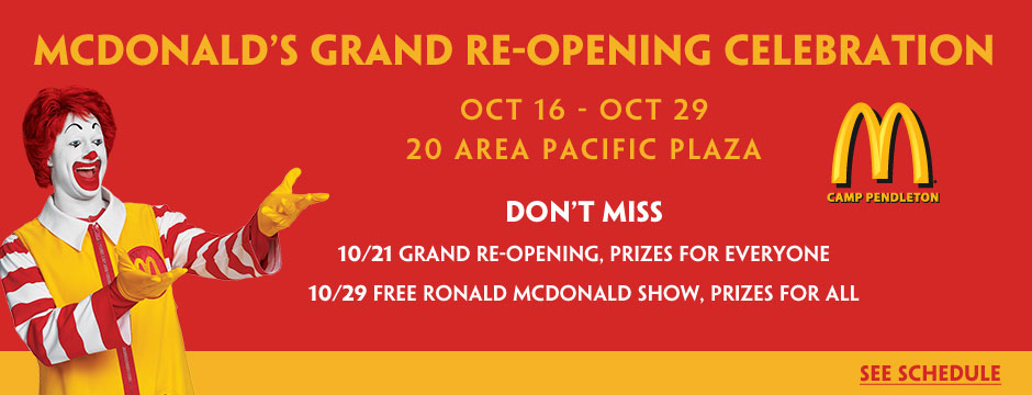 McDonald's Grand Re-Opening Web Banner
