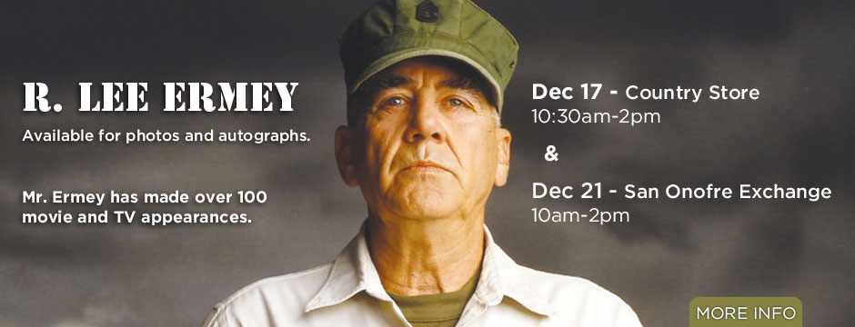 R. Lee Ermey Appearance Web Banner