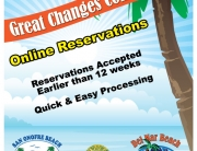 Beaches and lake - online reservations poster