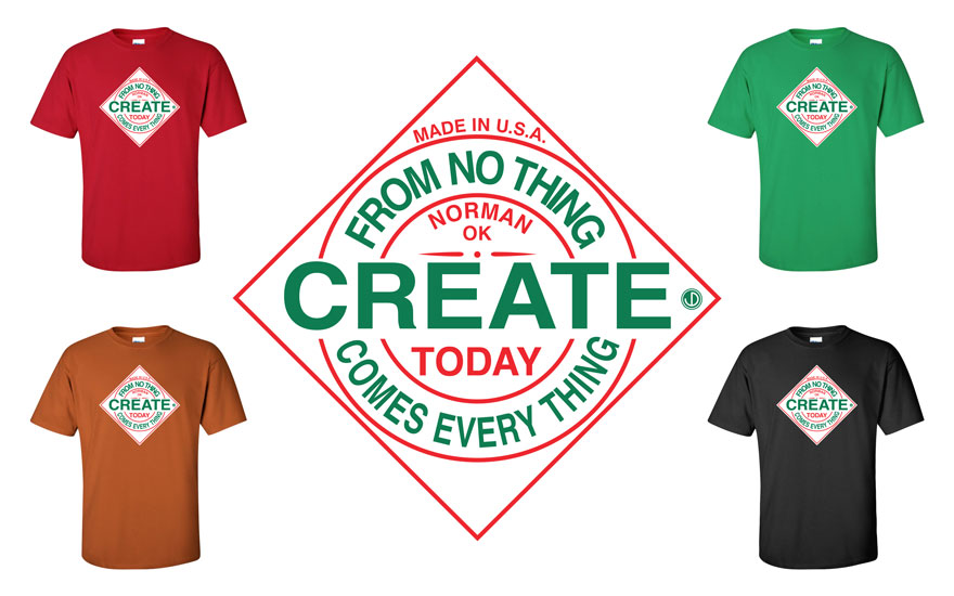 CREATE TODAY T-shirts